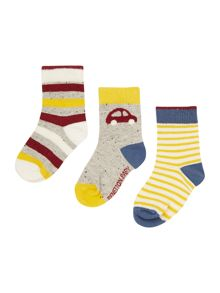 Baby car socks set of 3