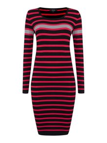 Stripe knitted dress