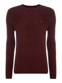 Colour block crew neck jumper