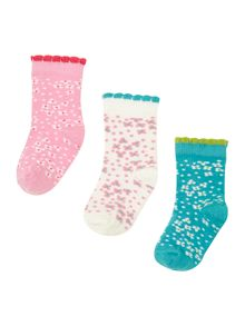 Baby girl floral socks set of 3