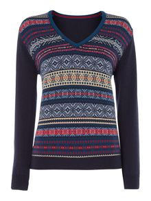 Edith V neck knit jumper