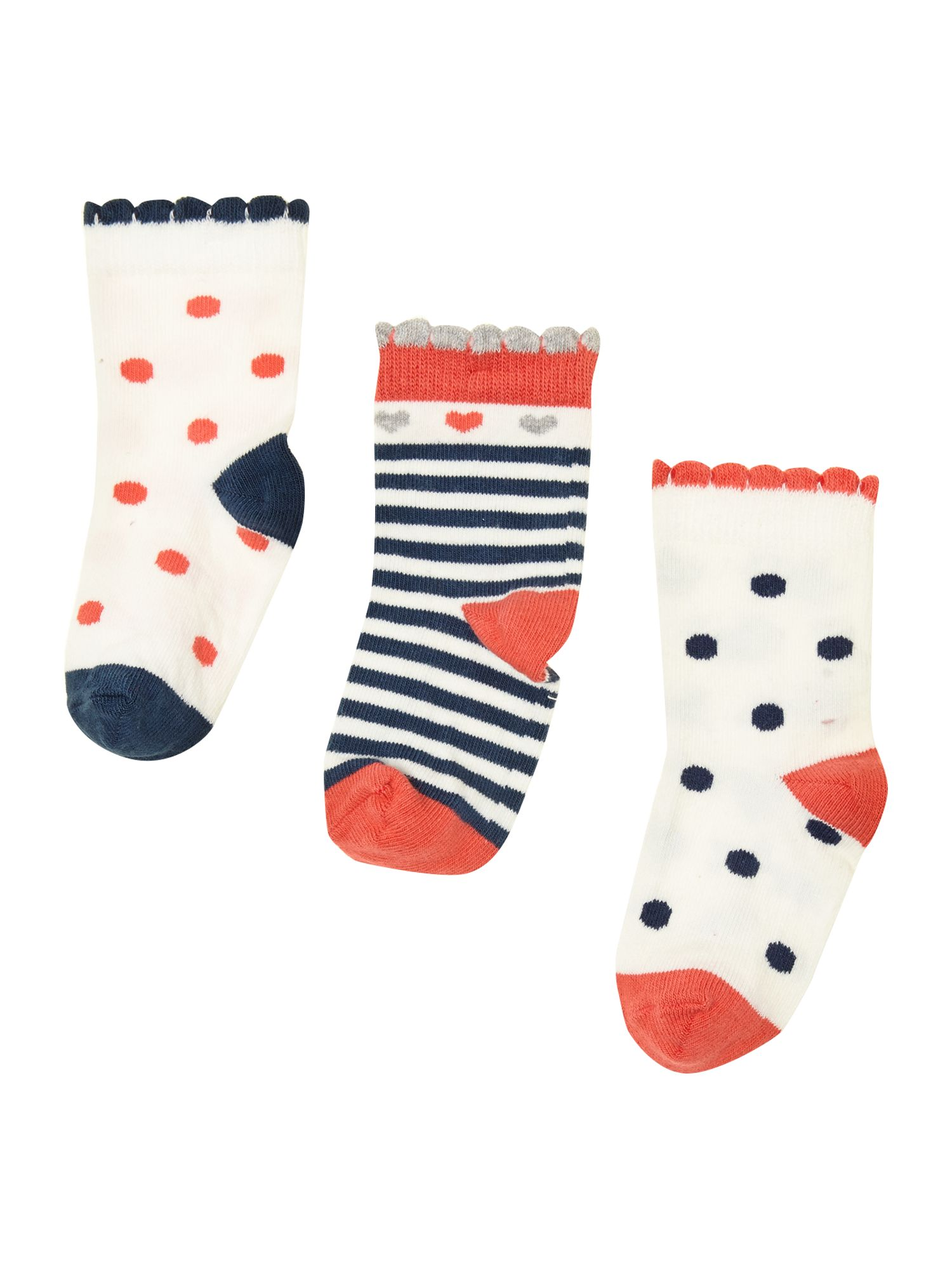 Baby girl spotty socks set of 3
