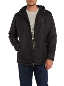 Hooded zip up padded jacket