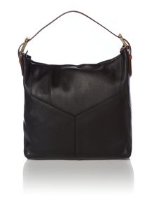Black and brown hobo bag