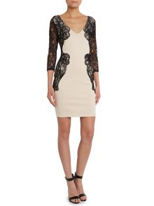 Michelle Keegan 3/4 Lace Sleeve Bodycon Dress