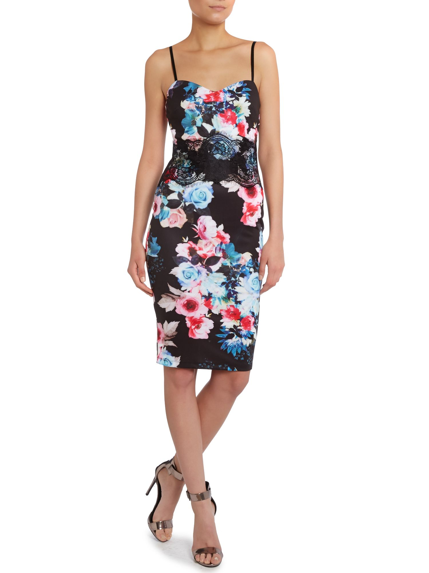 Cami Top Floral Bodycon Dress