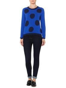 Big spot knit jumper