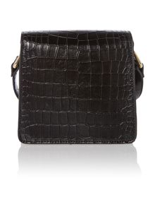 Black small foldover crossbody bag