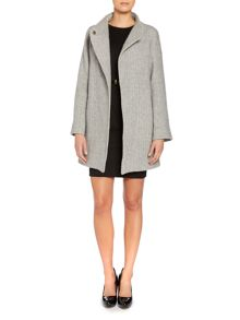 Marella Sale asymetric popper wool coat