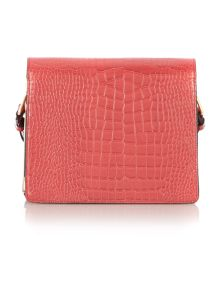 Red medium foldover shoulder handbag