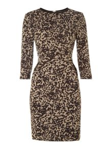 Nevis printed jersey dress