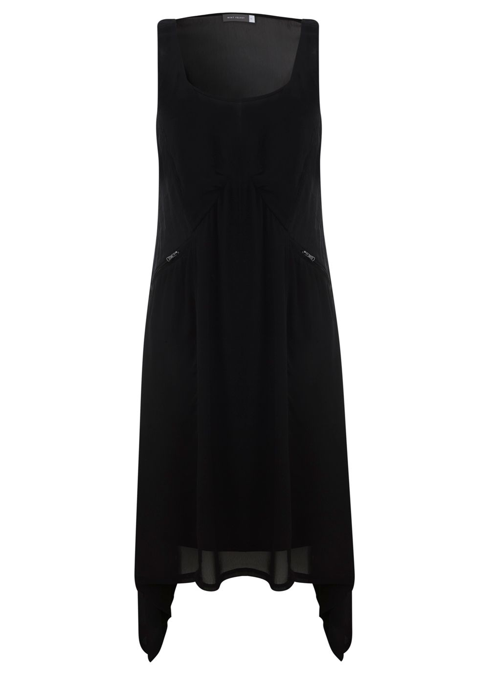 Black Trapeze Dungaree Dress
