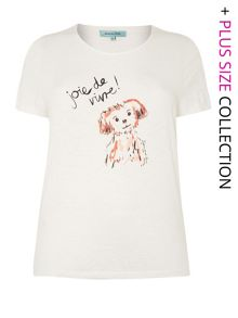 Dog placement print t-shirt