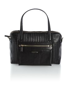 Black crossbody medium tote handbag