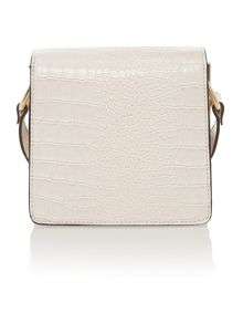 White foldover crossbody white handbag