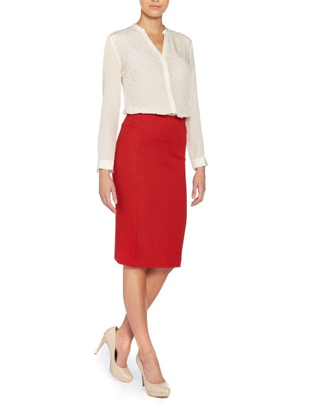 Marella Estri wool mix pencil skirt
