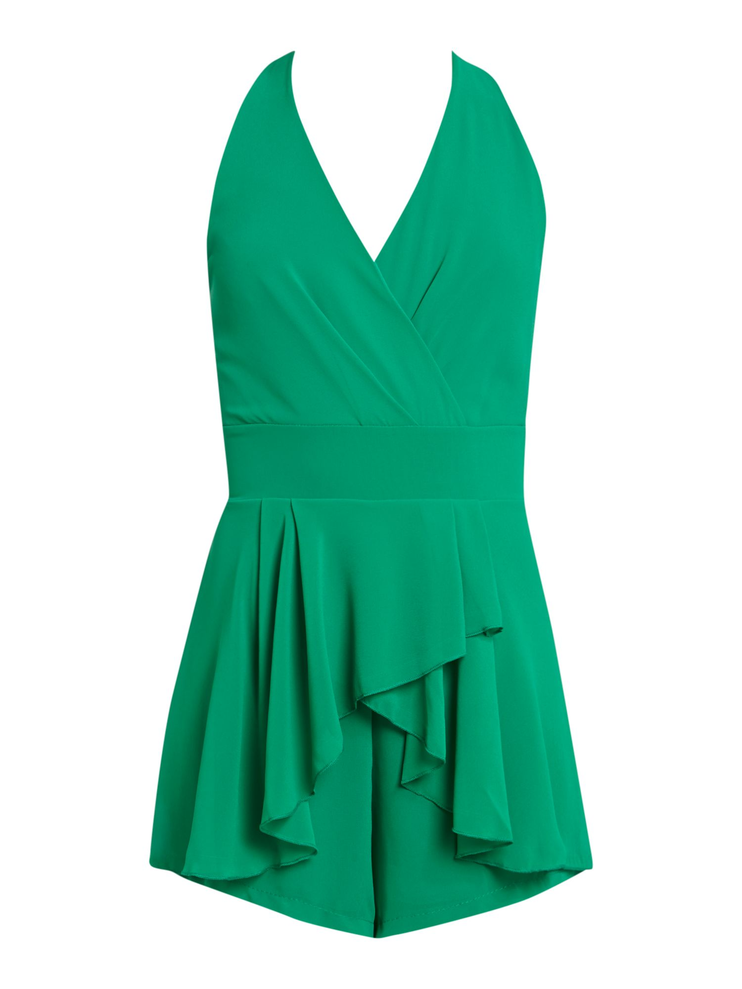 Cross Over Top frill Playsuit