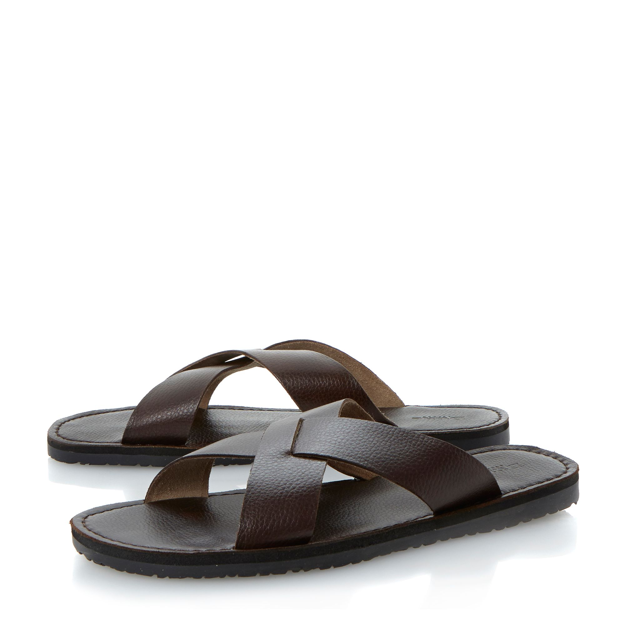 Indian summer leather crossover sandals