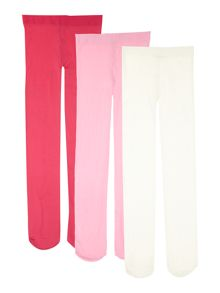 Girls 3 pack tights
