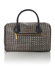 Chelsea multi coloured tweed bowling bag