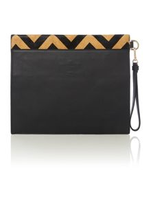 Erin multi coloured clutch bag