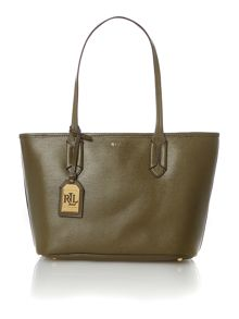Green and brown tate shopper bag