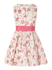 Girls pony print bow dress