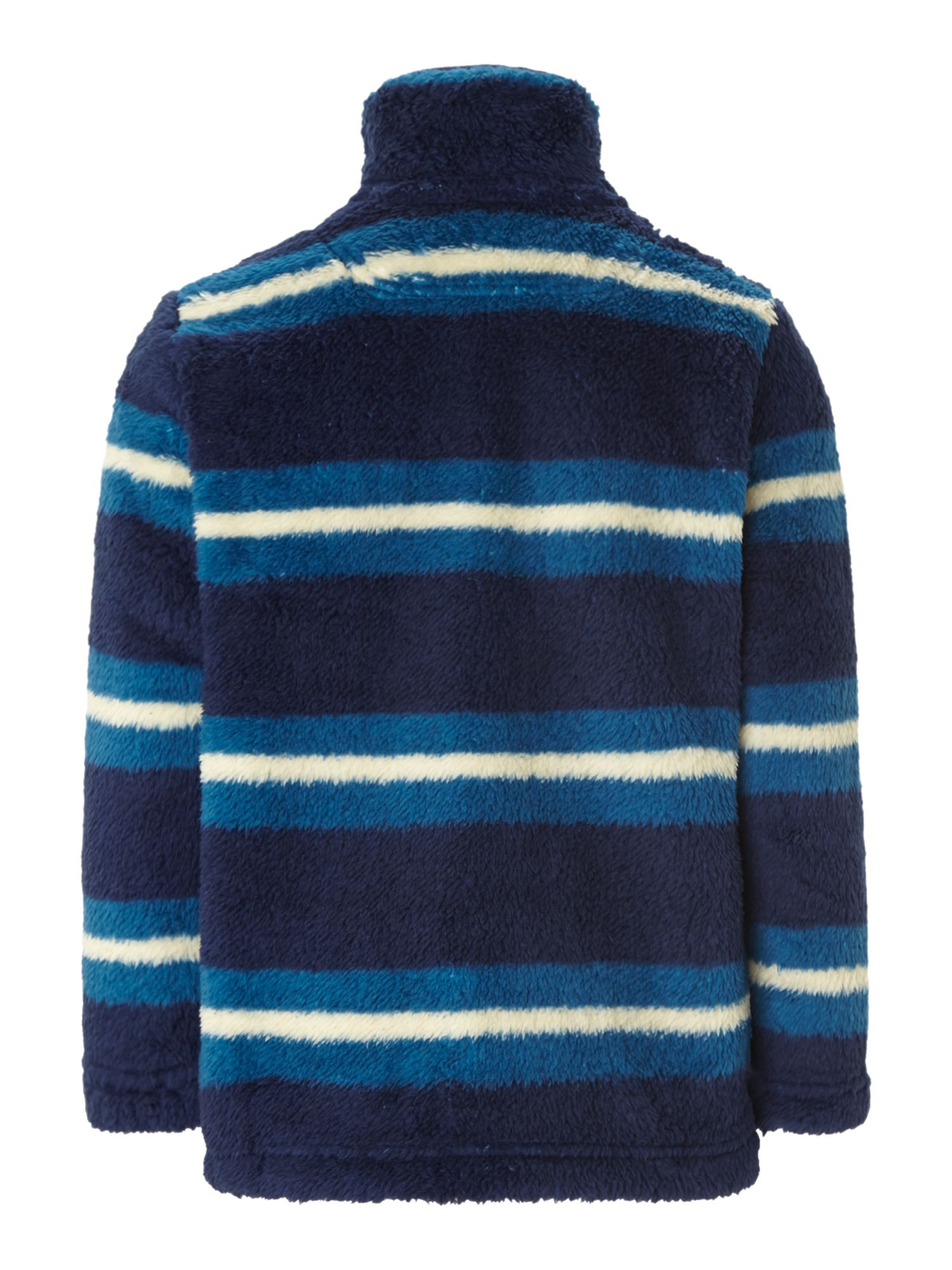 Boys funnel neck stripe fleece