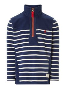 Boys funnel neck stripe sweatshirt