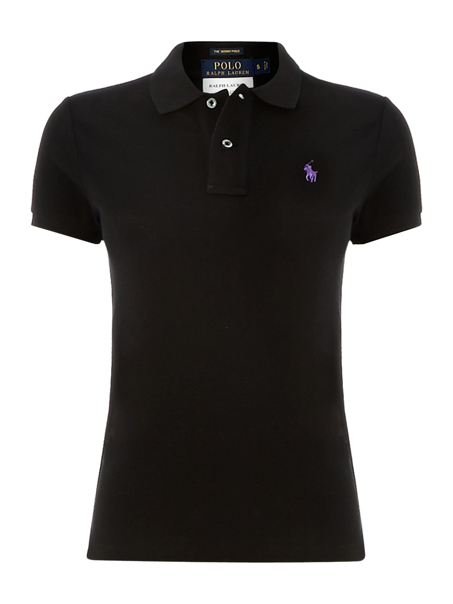 Skinny fit short sleeved polo