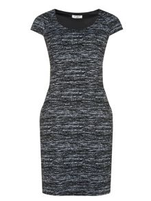 Monochrome textured dress