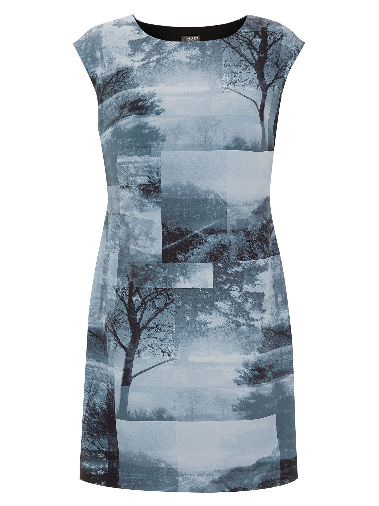 Monochrome landscape tunic dress