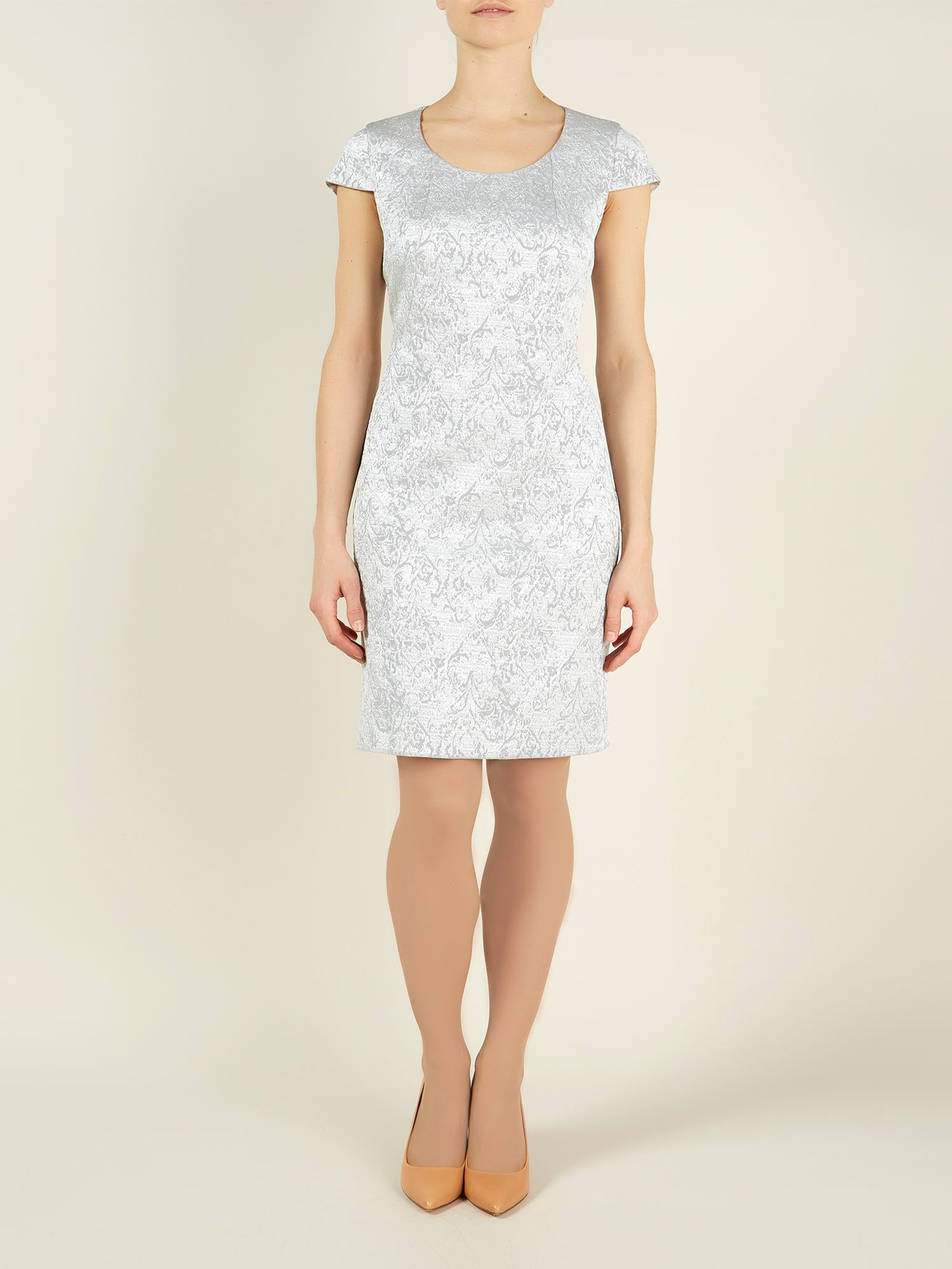Sparkle jacquard dress