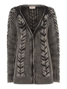 Chunky overwash cable cardi