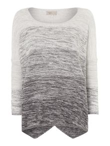 Ombre cropped jumper
