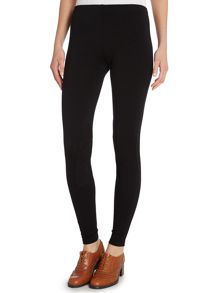Straight fit legging with knee patch