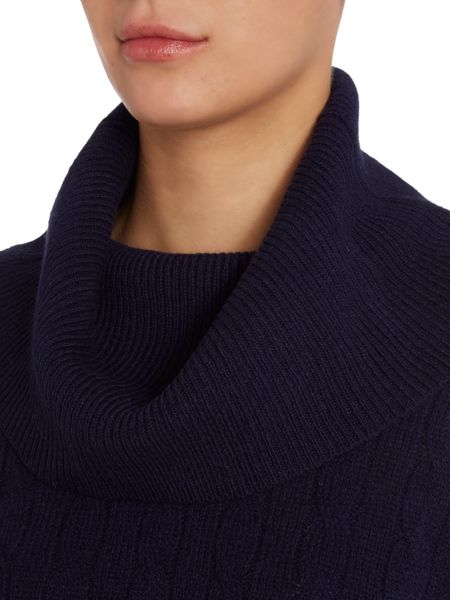 Polo Ralph Lauren Cable knitted cowl neck jumper