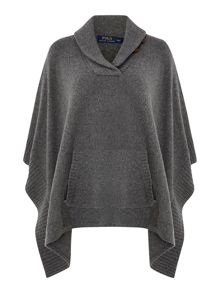 Wool cashmere jumper with elbow patch