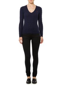 Polo Ralph Lauren Long sleeved merino cashmere mix jumper