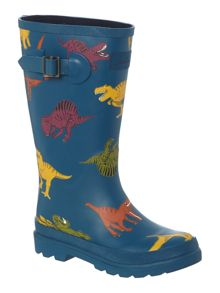 Boys dinosaur print wellies