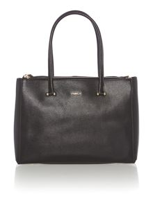 Lotus black medium tote bag