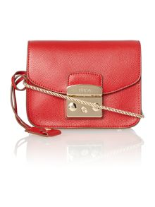 Metropolis red mini cross body bag