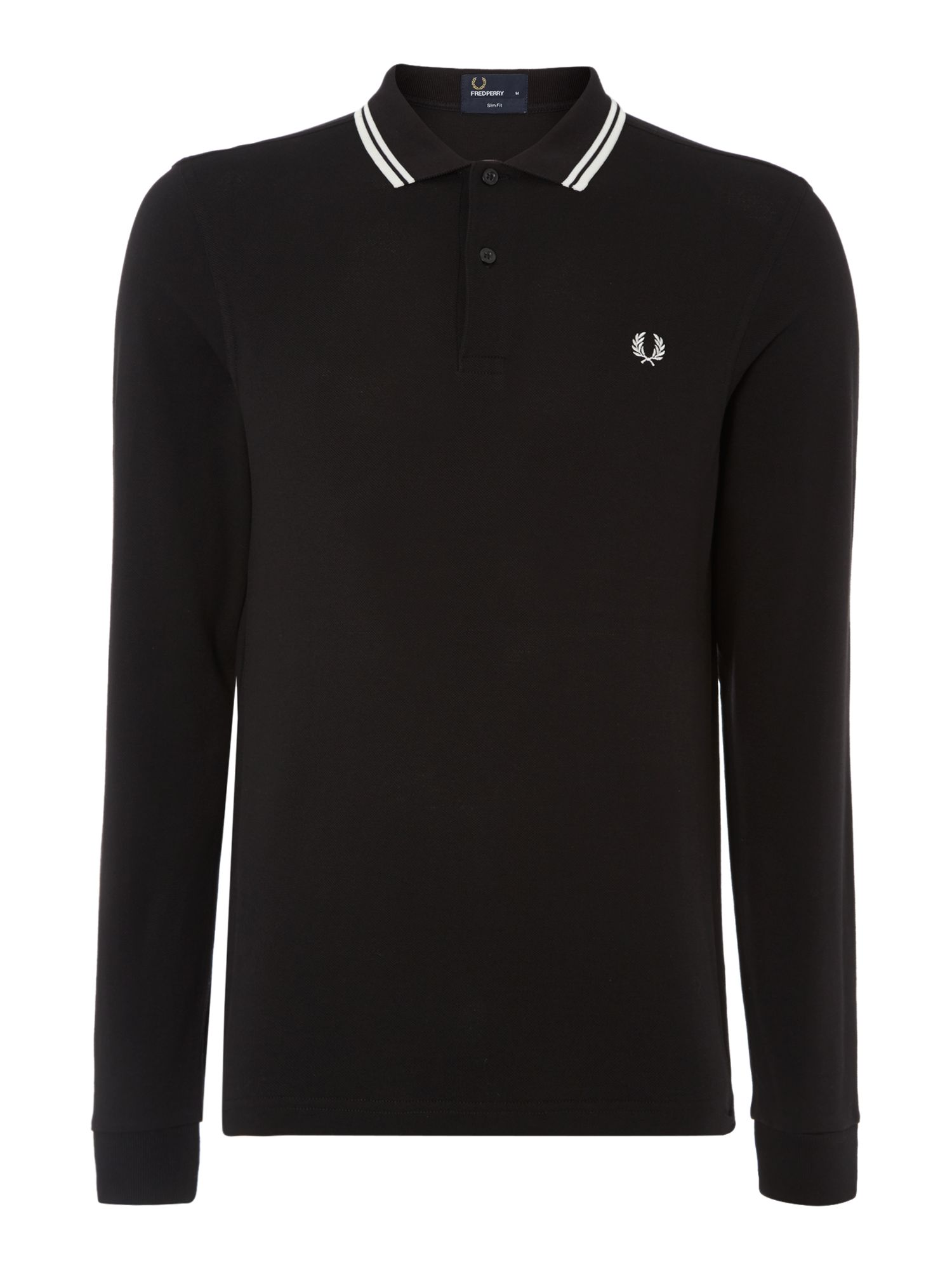 Twin tipped long sleeved polo