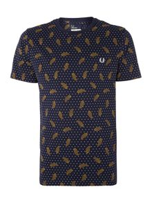 Drakes floral trim short sleeve t shirt
