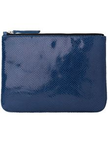 Albi leather clutch bag