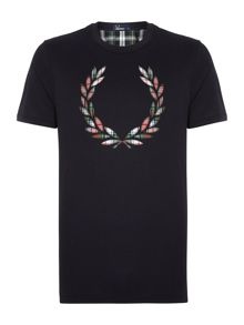 Tartan laurel wreath short sleeve t shirt