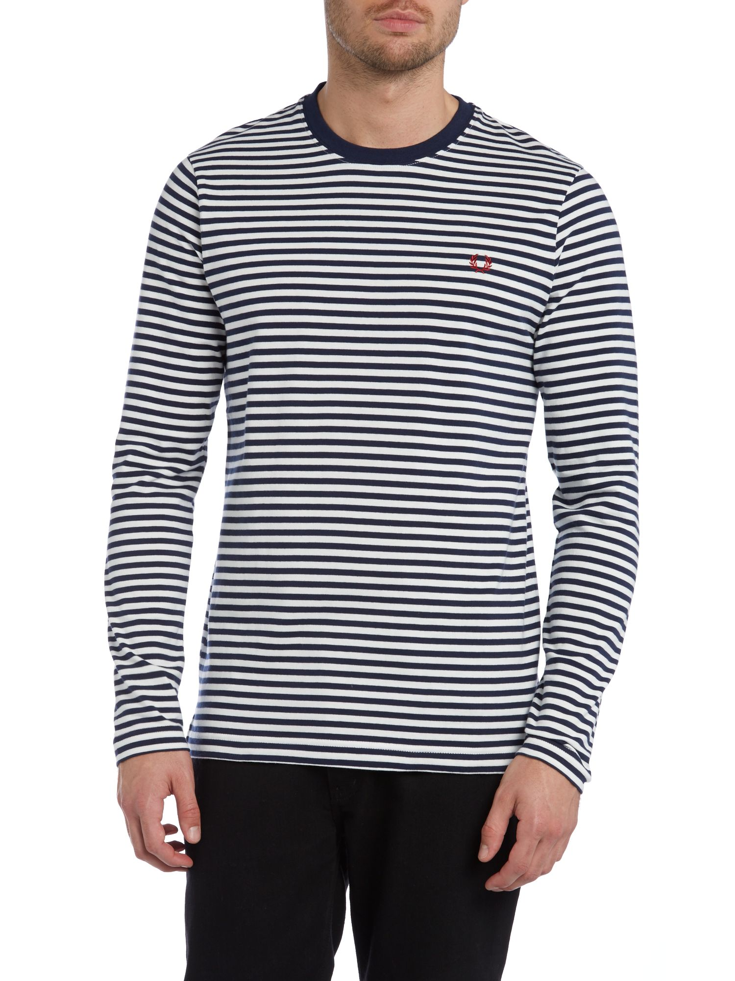 Sharp stripe long sleeve t shirt