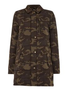 Joyce quilted jacket in camoflague
