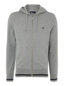 Bold tipped hooded sweat