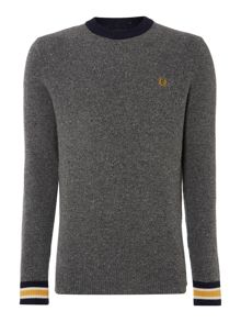 Fleck knit crew sweater
